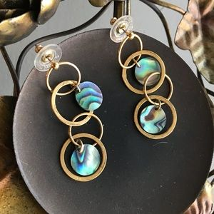 Kenneth Jay Lane Tondeleo Earrings-Abalone